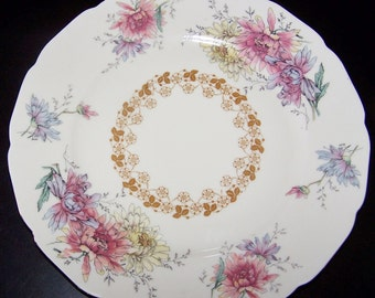 "BLACK KNIGHT china THELMA dinner plate 10"""