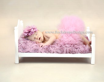 Ready to ship!! Newborn baby bed photography photo prop hand made  bed