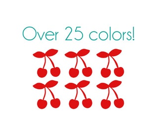Cherry Nail Decals - Vinyl, Custom Color Choice