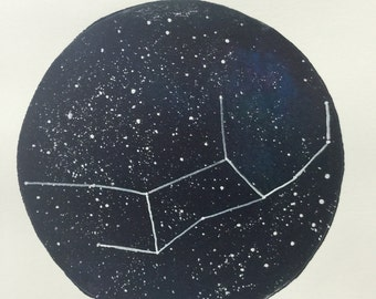 Virgo Constellation Print