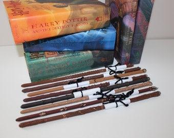 8 Wands with Ollivander Description Cards