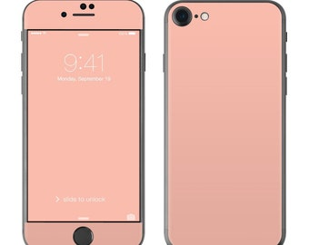 Solid Peach - iPhone 7/7 Plus Skin - Sticker Decal