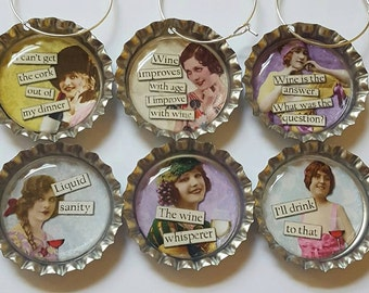 Funny Wine Charms Wine Gift Hostess Gift