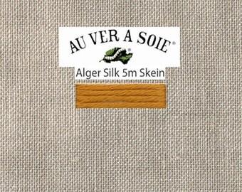 Kreinik - Au Ver A Soie - Soie d'Alger - Color 2244A - Colonial Gold Medium - 5.5 Yards - By the Skein