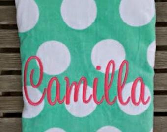 Monogrammed Beach Towel -Personalized Towel-Beach Towels - Monogram Beach Towel - Monogrammed Beach Towel for Girls- Beach Towel Monogrammed