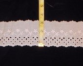 """NEW!  3"""" wide Natural - ivory flat eyelet lace trim - beautiful pattern 5. 10 or 15 yards"""