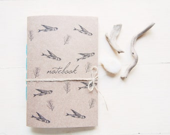 Sea notebook fish , sea  journal travel diary
