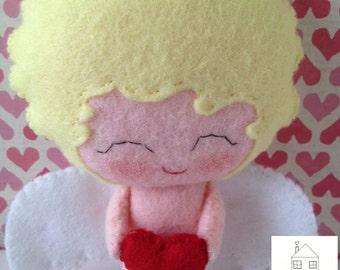 Valentine's Day Little Cupid Felt Doll