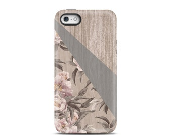 Wood iphone 5 case Wood iPhone 6 case iPhone 6 Plus Wood iphone 5s case Flower iphone 4 case Flower iphone 4s case wood iphone case, vintage