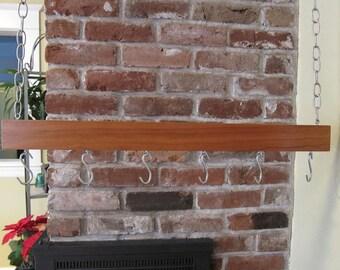 Handmade Cherry Wood Pot Rack