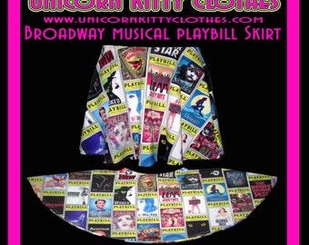 Broadway Musical Playbill Skater Skirt