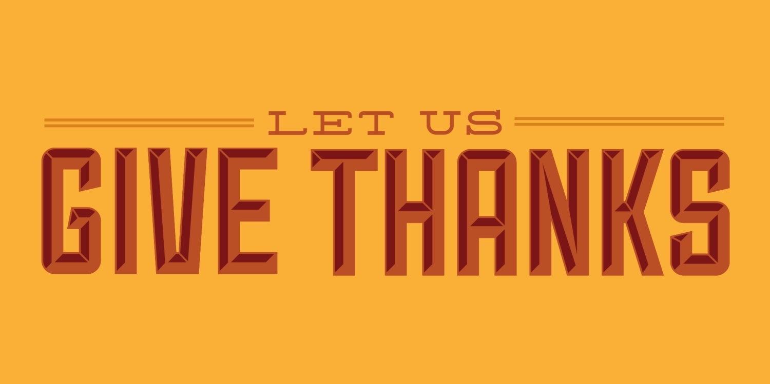 Let Us Give Thanks Thanksgiving Banner