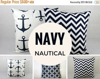 Navy Pillow Covers - Navy Pillow for Couch - Navy Pillow Covers for Sofa