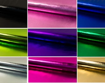 Metallic Tissue LAME Shiny Foil Fabric Material dance costume craft - 2 way stretch- 147cm wide