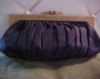 Vintage 1930s Clutch Canvas (type) Fabric Handbag, Has attched Change Purse,, Wonderful bag, #958