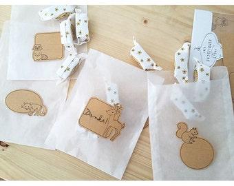 Stickers Set forest animals (12 units)