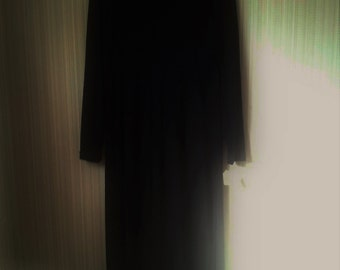 Vintage Collection of Widow dresses - Black Acrylic Wool long sleeves Deadstock dress