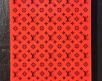 """Louis Vuitton LV original hand made art piece limited edition #1 of 56, size 24""""x36"""""""