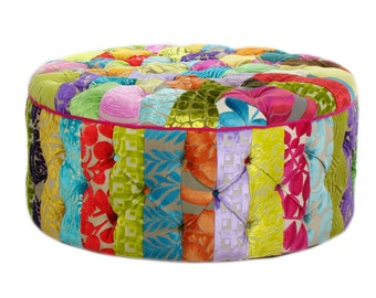 Bespoke Patchwork Ottoman/Coffee Table Designers Guild Fabric