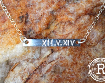 """Handmade Sterling Silver """"Anniversary"""" Necklace- (Roman Numeral)"""