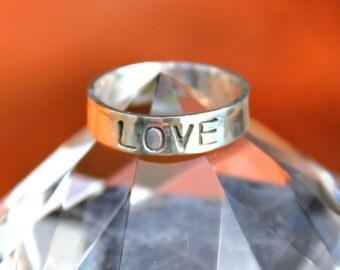 "Handmade Sterling Silver ""LOVE"" Ring"