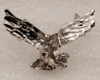 Vintage Sterling silver eagle pendant/slide.