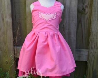 Inspired by Owlette PJ Mask Dress, Inspired Owlette Dress