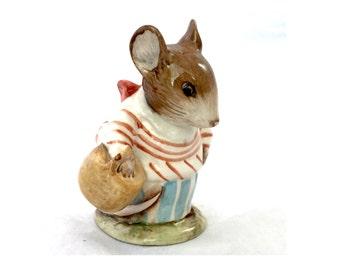 Mrs Tittlemouse Beatrix Potter's Beswick England 1948 F Warne & Co Ltd, Ceramic Mouse Beatrix Potter Mouse Character Figurine