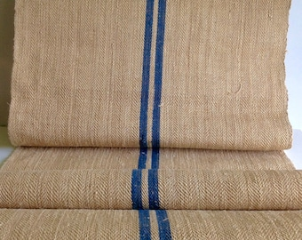 Vintage handwoven linen / floor runner / Antique european linen / burlap runner / hemp linen / stair runner
