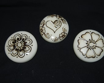"Set of (3) White 3"" Floating Candles"