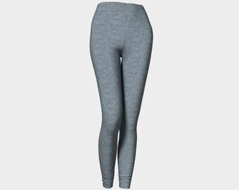 Grey Leggings/Fashion Leggings/Grey Blue Leggings/Leggings/Leggings Tights/Made to Order