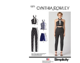 Simplicity 1371P5, Simplicity Sewing Pattern 1371P5, Misses Sportswear Pattern, Pants, Shorts, Top, Cynthia Rowley, FREE SHIP, Sz 12-20