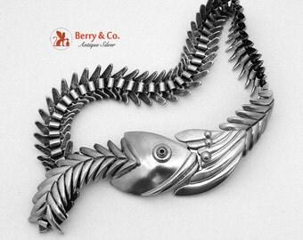 Fish Bone Necklace Sterling Silver Los Ballesteros Taxco