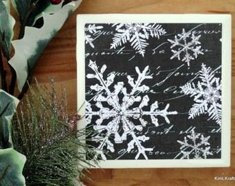 Snowflake Coasters - Christmas Coasters - Coasters - Drink Coasters - Tile Coasters - Ceramic Coasters - Ceramic Tile Coasters - Coaster Set