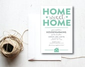 INSTANT DOWNLOAD housewarming invitation / housewarming party / new home / first home / house party invitation