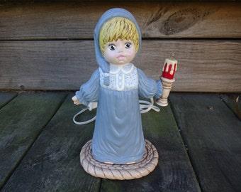 Little Girl Ceramic Lantern