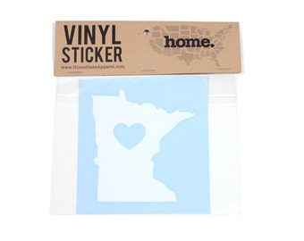 Minnesota Heart Decal Car or Laptop Sticker by Home State Apparel