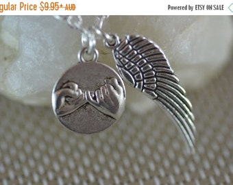 SALE Pinky Promise Wing Necklace, Pinkie, best friend, NP018, BFF, sister, mum daughter, cousin, bridesmaid