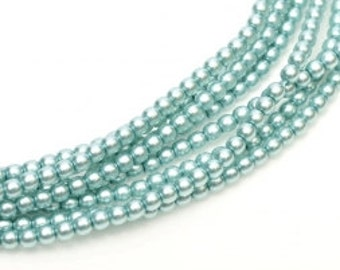 3mm Czech Glass Pearl - 24644 Celeste x 300pcs