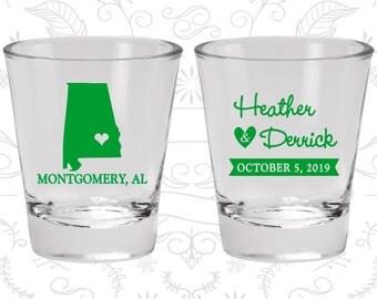 Alabama Shot Glass, Alabama Shot Glasses, Alabama Glass, Alabama Glasses, Alabama Glassware (100)
