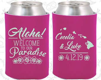 Aloha, Welcome to Our Paradise, Unique Wedding Favors, Floral Wedding favors, Aloha Wedding Favors, Hawaii Wedding Favors (465)