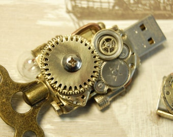 Steampunk USB Flash drive 16 Gb