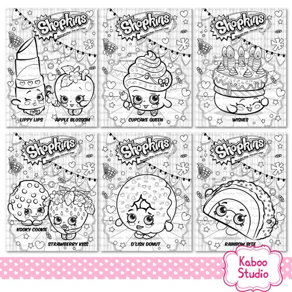 Shopkins Coloring Pages Free Games