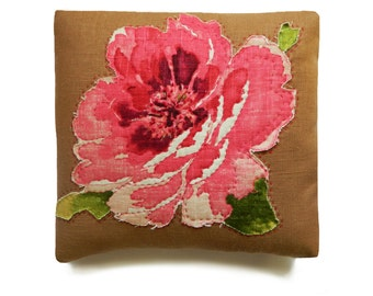 delightful hand stitched pillow