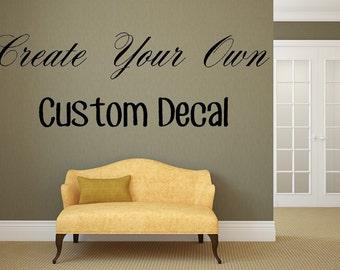 Custom Vinyl Lettering, Custom Lettering