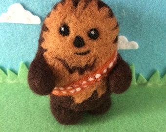 Wookie needle felted star wars chewbacca handmade