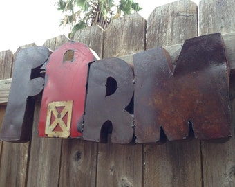 "Farm metal sign home decor 26"" x 12"""