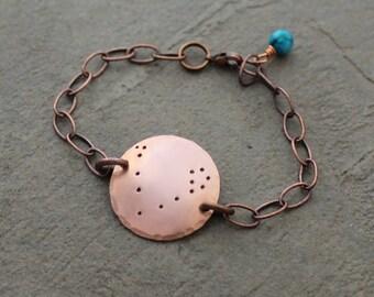 Copper Constellation Bracelet - Constellation Bracelet - Zodiac Bracelet - Astrological Sign Bracelet - Zodiac Jewelry - Star Sign Bracelet