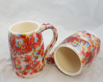 Pottery mug hand made clay