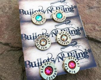 Surprise** Bullet Casing Stud Earrings